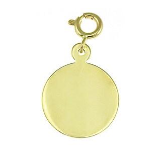 14k Yellow Gold Engravable Circle Charm