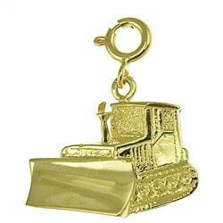 14k Yellow Gold Bulldozer Charm