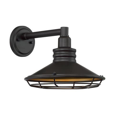 Blue Harbor 1-Light Sconce with Dark Bronze and Gold Finish