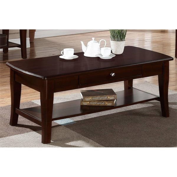 Rectangular Coffee Table With Drawer Brown Overstock 31087447