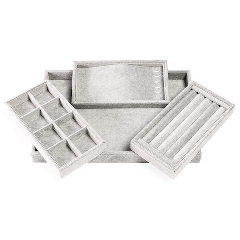 4 in 1 Jewelry Tray Organizer for Drawer Dresser Display Storage for Accessories