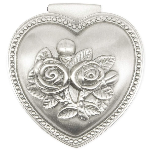 Silver Antique Heart Shape Jewelry Box Case for Ring Earring Necklace Bracelet