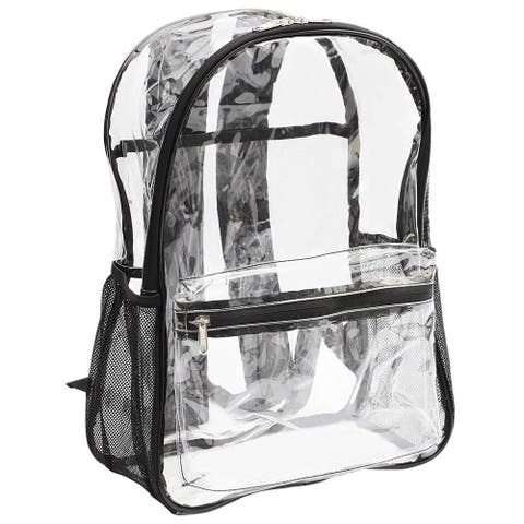 Heavy Duty Clear School Backpack Bag for Men Women Kids Boys Girls Teens Travel Gym Hiking School, Transparent