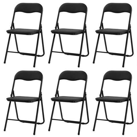 PVC Leather Folding Chair for Home Office Party (Set of 4/6)