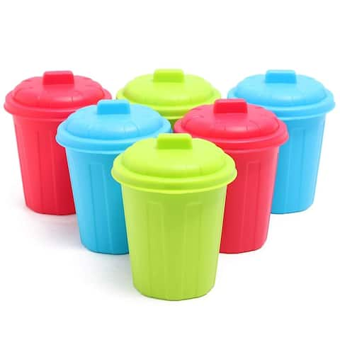 6 Pack Desktop Mini Garbage Cans Desk Organizer Storage Containers 3.5x3.8x4.6in
