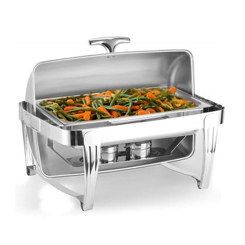 ZOKOP 6/9 Quart Stainless Steel Top-Grade Clamshell Buffet Stove