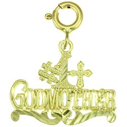 14k Yellow Gold '# 1 Godmother' Charm