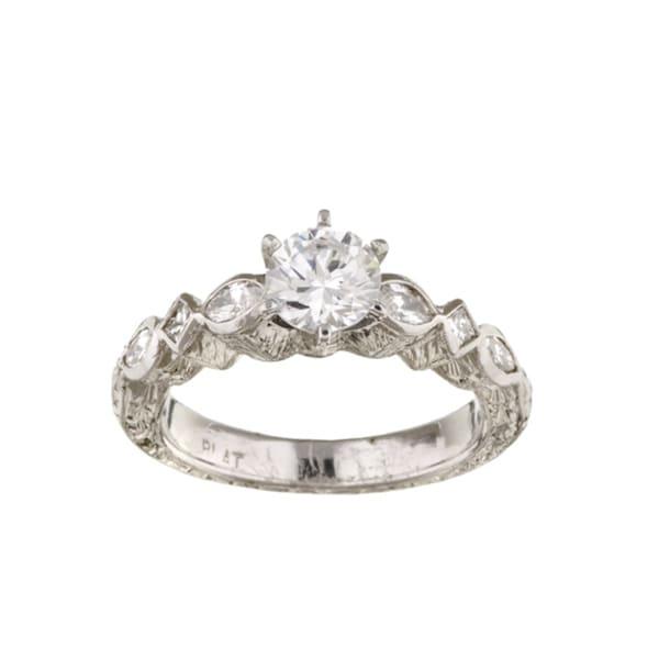 Tacori Platinum CZ and 2/5ct TDW Diamond Engagement Ring (G, VS)