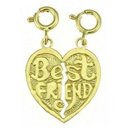 14k Yellow Gold 'Best Friend' Breakable Charm