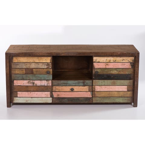 Raga Reclaimed Wooden 1 Drawer, 2 Cabinet Media Unit - 54 inches in width