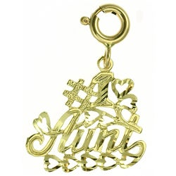 14k Yellow Gold '#1 Aunt' Charm
