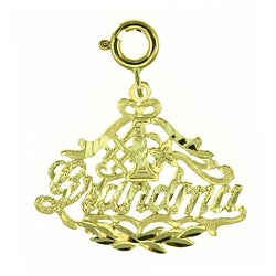 14k Yellow Gold '#1 Grandma' Charm