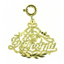 14k Yellow Gold '#1 Grandma' Charm