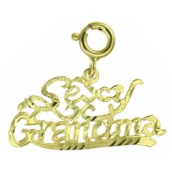 14k Yellow Gold 'Sexy Grandma' Charm