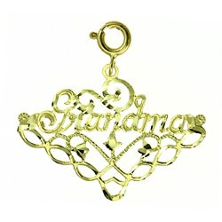 14k Yellow Gold 'Grandma' Charm