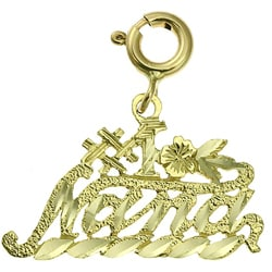 14k Yellow Gold '#1 Nana' Charm