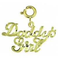 14k Yellow Gold 'Daddy's Girl' Charm
