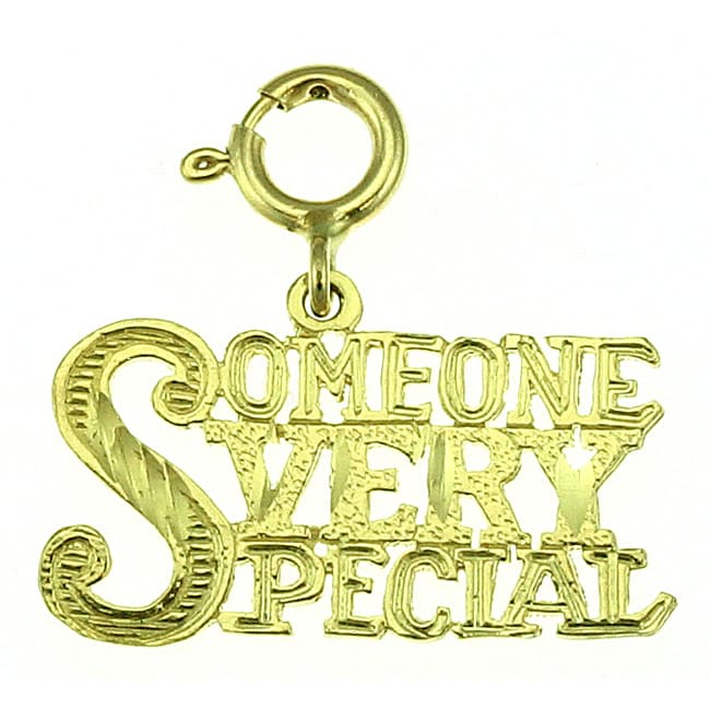 14k Yellow Gold 'Someone Very Special' Charm