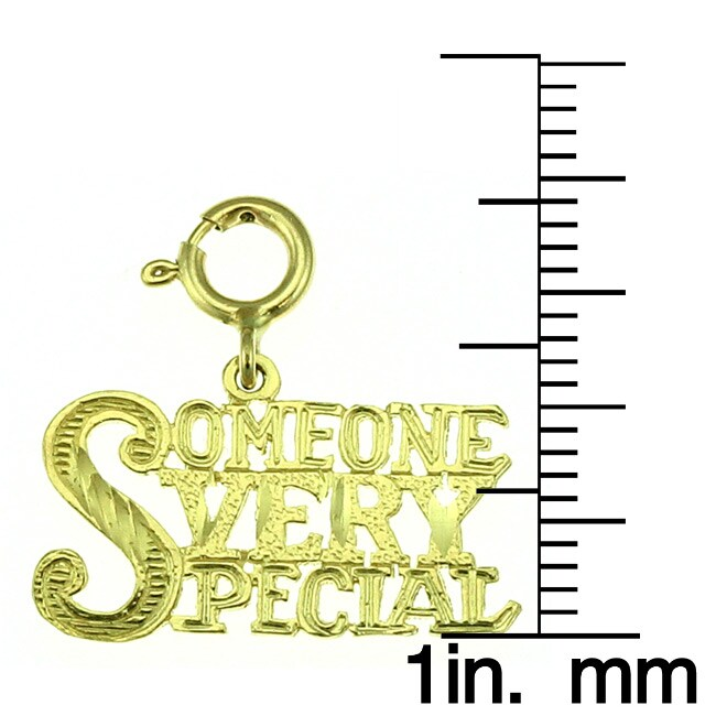 14k Yellow Gold 'Someone Very Special' Charm - Thumbnail 1