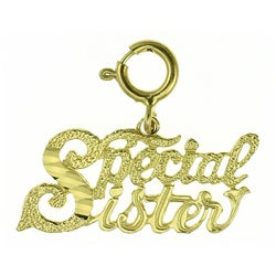 14k Yellow Gold 'Special Sister' Charm