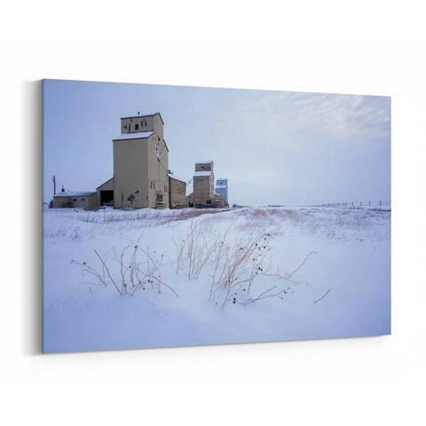 Mossleigh Alberta Agriculture Canadian Canvas Wall Art Print