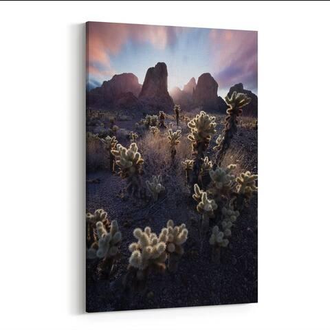 Cactus Calico Cat Cholla Desert Canvas Wall Art Print