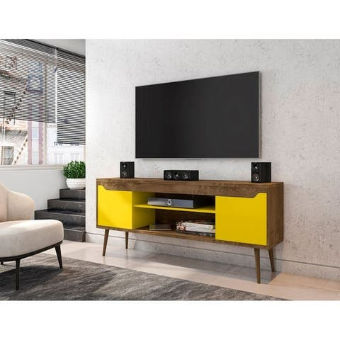 Bradley 62.99 inch TV Stand with 2 Media Shelves and 2 Storage Shelves by Manhattan Comfort