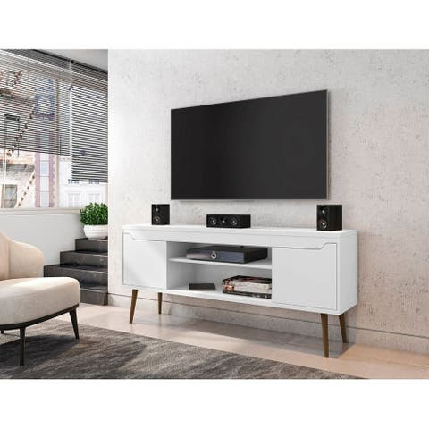 Bradley 62.99 TV Stand with 2 Media Shelves and 2 Storage Shelves by Manhattan Comfort