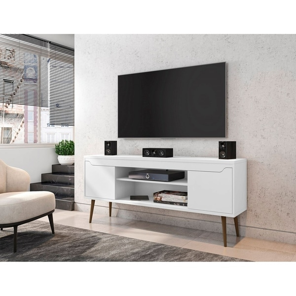 Bradley 62.99 TV Stand with 2 Media Shelves and 2 Storage Shelves by Manhattan Comfort. Opens flyout.