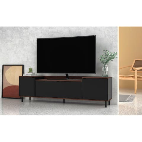 Mosholu 66.93 TV Stand with 3 Shelves by Manhattan Comfort