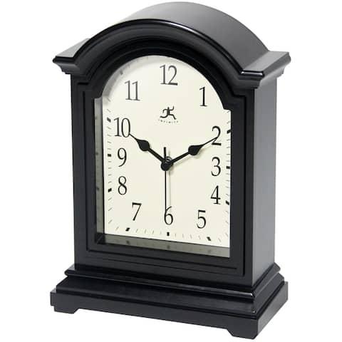 Antique Grandfather 9 inch Decorative Black Tabletop Clock