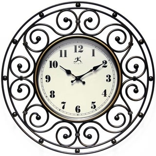 Link to Provinciale Wrought Iron Decorative Traditional 18 inch Round Wall Clock Similar Items in Decorative Accessories