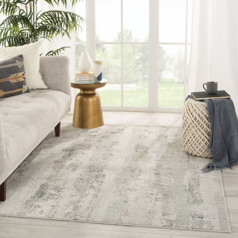 Copper Grove Moungaone Grey and White Area Rug