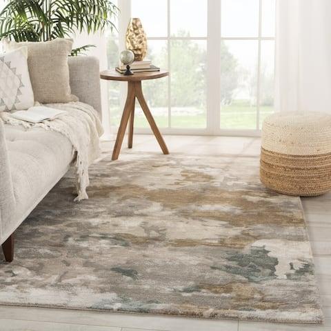 Porch & Den Caron Handmade Light Grey/ Taupe Abstract Pattern Area Rug