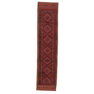 Hand-knotted Tajik Caucasian Red Wool Rug
