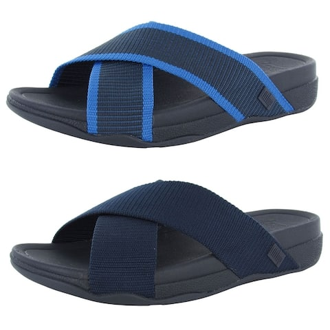 Fitflop Mens Surfer Slide Cross Strap Sandal Shoes