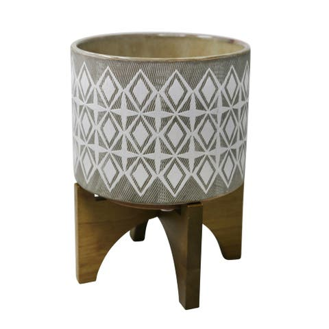 Outdoor Citronella Candle In Ceramic , Gray