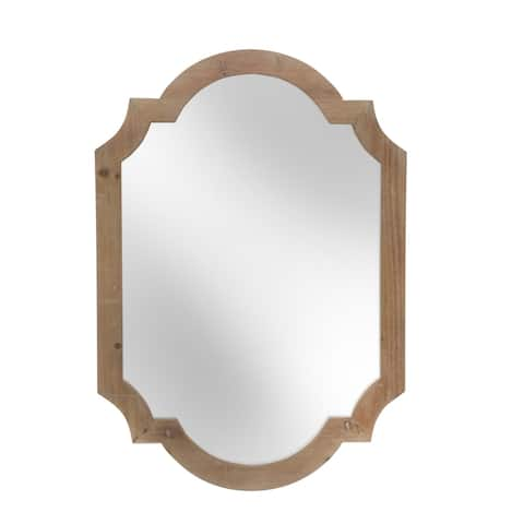 "Wood 44.5"" Frame Wall Mirror,Brown Wb"