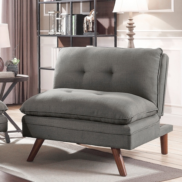 Furniture of America Damien Grey Linen Mid-century Chair. Opens flyout.