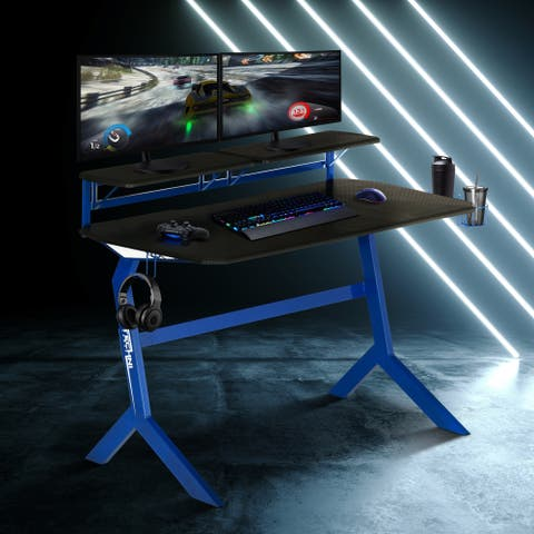 Faux Carbon Fiber Gaming Desk