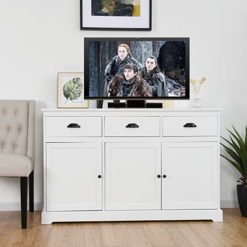 Multifunctional Wooden Buffet Sideboard Console Storage Cabinet