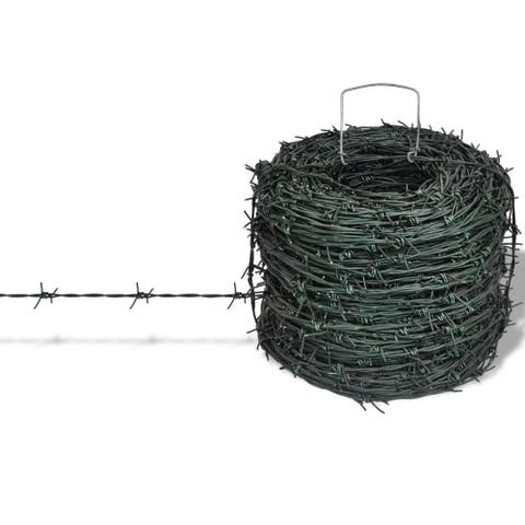Barbed Wire Entanglement Wire Green Wire Roll 328 ft