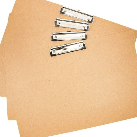 4x Landscape Horizontal MDP Clipboard Hardboard A3 Size for Engineers Architects