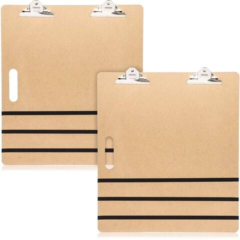 "6x Clipboard 23""x26"" with Built in Handle Heavy Duty Double Clip Elastic Band"
