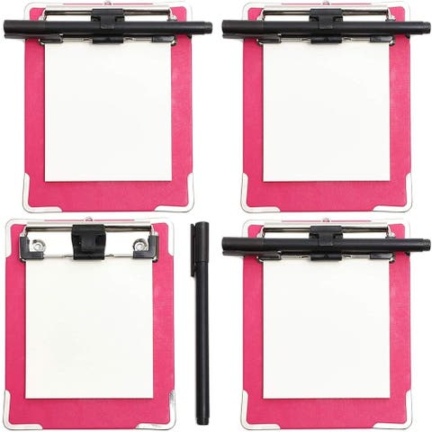 4x Mini Memo Magnetic Clipboard with Pen Notepad Heavy Duty for Students Nurses