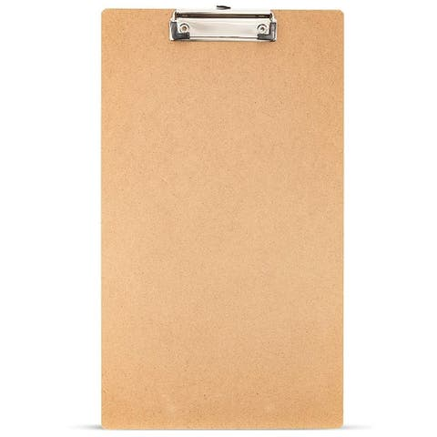 "8x MDF Clipboard Hardboard 9""x15.5"" fit A4 Paper for Students Teachers Nurse"