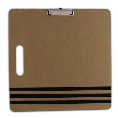 "3x Clipboard 18""x18"" with Built in Handle Heavy Duty Double Clip Elastic Band"