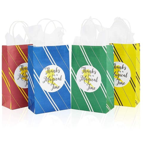 24x Wizard Kraft Paper Party Favor Bags w/ Handles Tissue Papers Kids Birthday