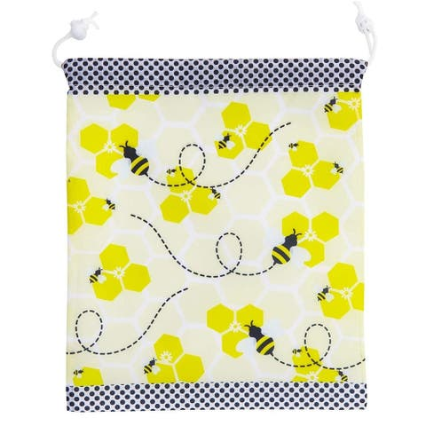 12 Pack Bumble Bee Kids Party Favor Bags Drawstring Gift Bag for Girls Boys