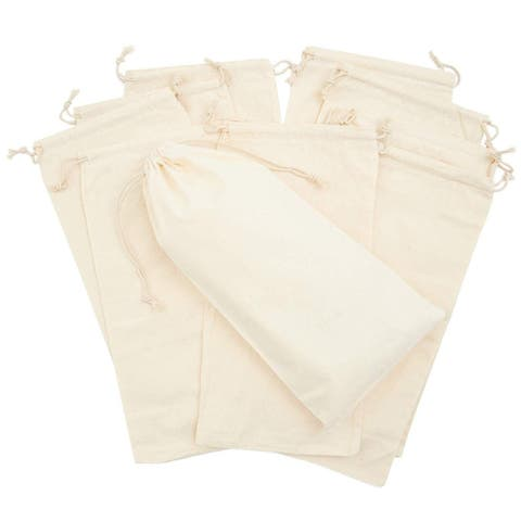 """12 Pack Party Favor Bags Drawstring Gift for Jewelry Birthday Wedding 6.3x12.6"""""""
